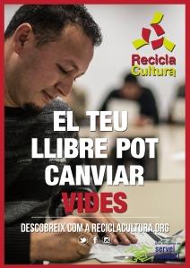 Cartell Recicla Cultura - vermell 2